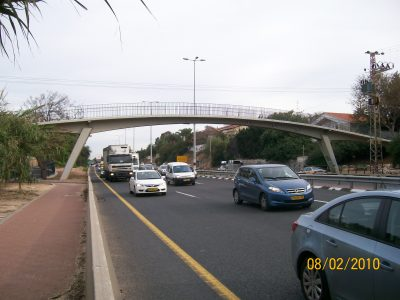 Walkers bridge over road 2 which was rehabilitated by applying MCI-2020 corrosion inhibitor near Herzelia