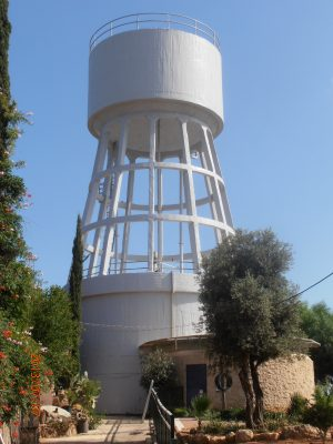 El-Al water tower rehabilitation project in Herzelia, applying mci-2020 corrosion inhibitor