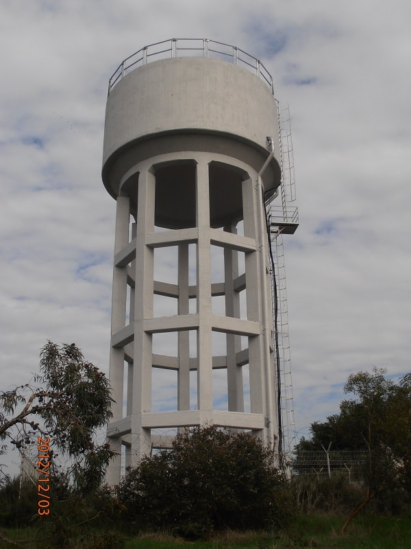 Nahlat-Ada water tower rehabilitation project in Herzelia, applying mci-2020 corrosion inhibitor