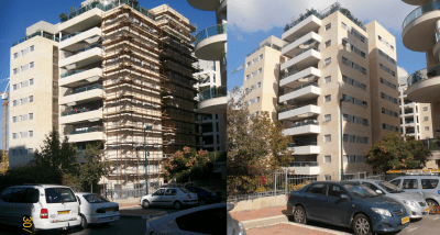 Stav St reconstruction project application of mci-2020 gel corrosion inhibitor building under construction before and after